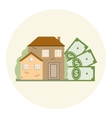 House and Money Business Concept vector image