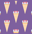ice cream seamless pattern background dessert vector image