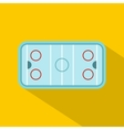 Ice hockey rink icon flat style vector image vector image