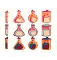 icon beaker vector image vector image