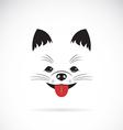 image an pomeranian dog vector image vector image