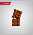 isolated dessert flat icon wrapper element vector image vector image