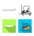 isolated object goods and cargo icon set of vector image vector image