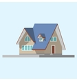 isometric image a private house vector image vector image