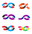 Logo Fish abstract vector image vector image