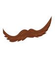 man mustache icon cartoon style vector image