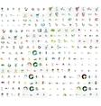 Mega set of geomeric lettering company logos vector image vector image