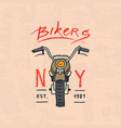 motorcycles and biker club template vintage vector image vector image