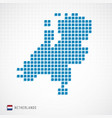 netherlands map and flag icon vector image