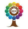 new year 2018 calendar design vector image vector image