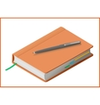 notebook flat 3d vector image vector image