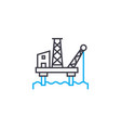 offshore oil industry linear icon concept vector image vector image