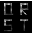 QRST silver letters vector image