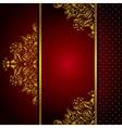 Royal Golden Frame Menu card vector image vector image
