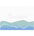sandy beach with the inscription summer vector image