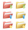 set folders vector image vector image