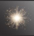 shimmering golden background vector image vector image