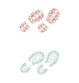 shoes color print set vector image vector image