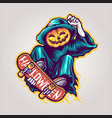 skeleton skateboards halloween scary vector image vector image