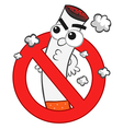 Smoking ban cartoon vector | Price: 3 Credits (USD $3)