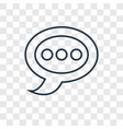speech bubble concept linear icon isolated on vector image
