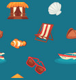 summer endless texture with attributes vector image vector image