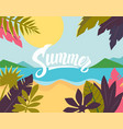summertime on beach vector image vector image
