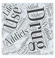 Symptoms of Drug Addiction Word Cloud Concept vector image vector image