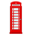Telephone box vector image vector image