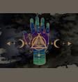 third eye hand esoteric spiritual sacred icon