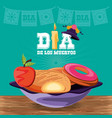 traditional food for day of the dead vector image vector image