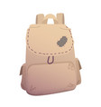 traveller backpack in beige color vector image vector image