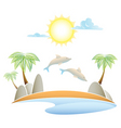 tropical island summer landscape vector illustrati vector image