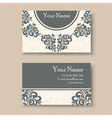 vintage business card vector image