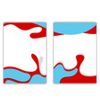 Wavy shapes flyer design vector image vector image