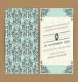 wedding invitation or announcement card vector image vector image