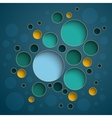 Infographics colorful circles scheme design on vector image