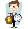 Money is time Time management vector image