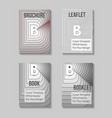 book title page template business report cover vector image