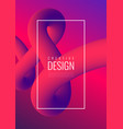 abstract 3d mixing of colors and lines vector image vector image