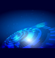 abstract technology design on blue background vector image vector image