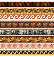 Ancient Greek pattern - seamless set of antique bo vector image