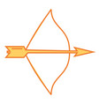 arch bow arrow vector image