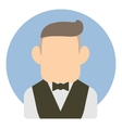 Avatar man in suit icon flat style vector image