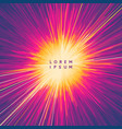 background with explosion starburst dynamic lines vector image vector image