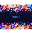 Bright colorful bokeh light effect holiday vector image