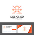 business logo template for business global vector image