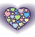 Candy heart background vector image vector image