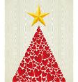 Christmas love heart pine tree vector image