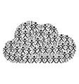 cloud figure of x generation boy icons vector image